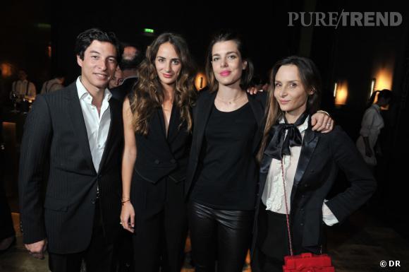 Soirée de lancement de System magazine : Benjamin Cassan, Alexia Niezielski, Charlotte Casiraghi et Laetitia Crahay.