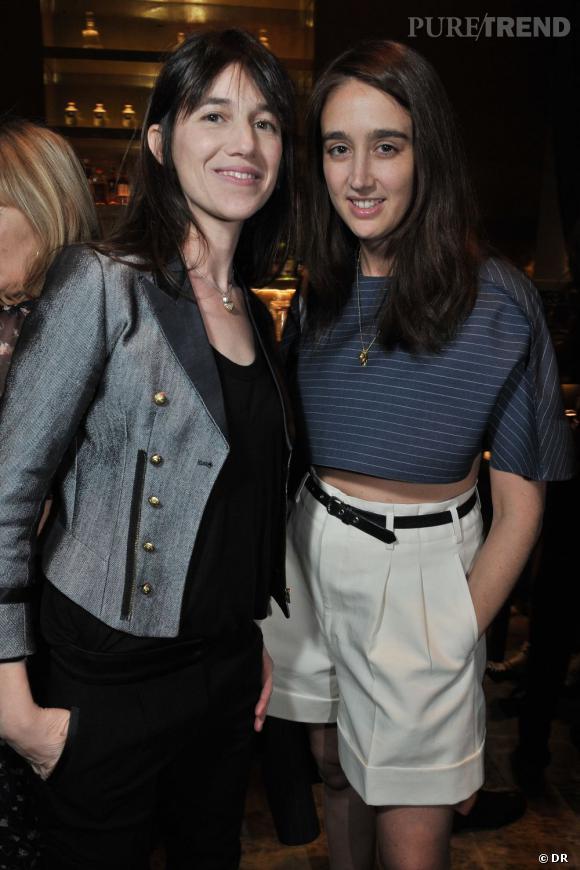Soirée de lancement de System magazine : Charlotte Gainsbourg et Natacha Ramsay Levi