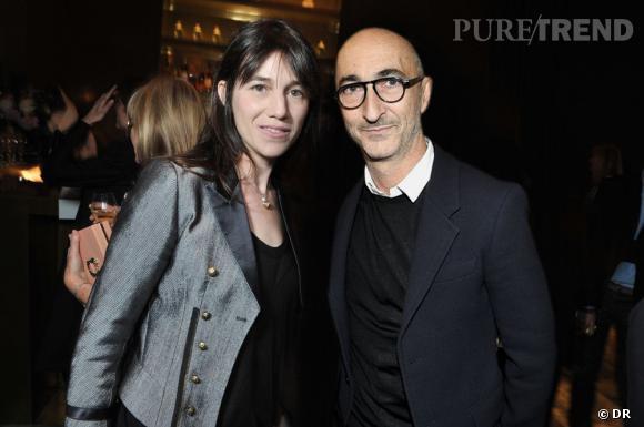 Soirée de lancement de System magazine : Charlotte Gainsbourg et Pierre Hardy.