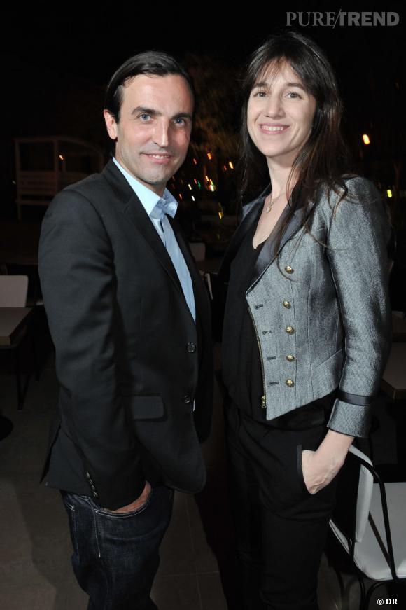 Soirée de lancement de System magazine : Charlotte Gainsbourg et Nicolas Ghesquière.