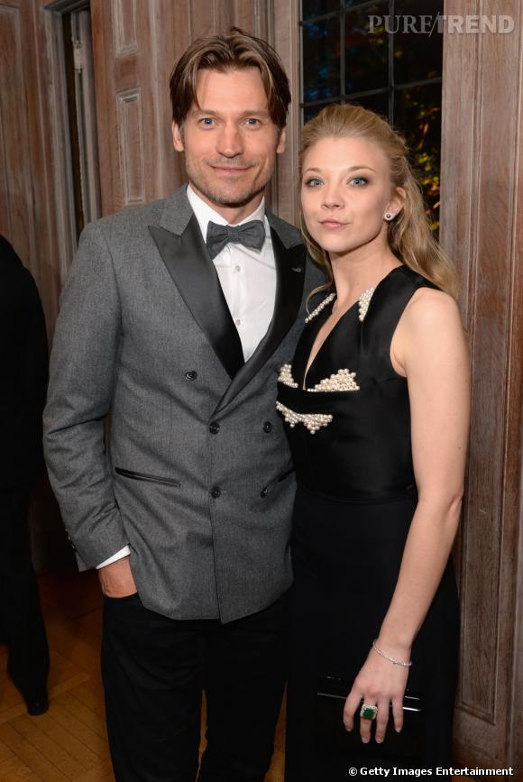 "Natalie Dormer et Nikolaj Coster-Waldau, deux acteurs de ""Game Of Thrones""."