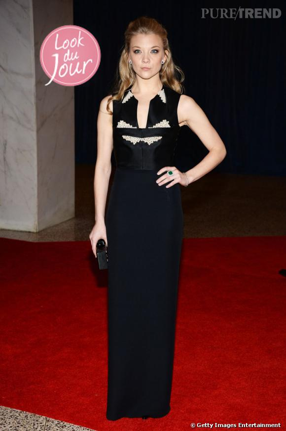 Natalie Dormer au White House Correspondents Dinner 2013, à Washington, le 27 avril.