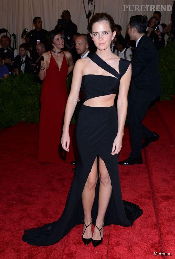 "Emma Watson en robe Prabal Gurung au MET Ball 2013, ""Punk : Chaos to Couture""."
