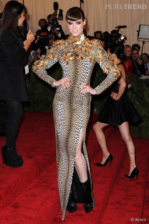 "Coco Rocha, étonnante en robe Fausto Puglisi au MET Ball 2013, ""Punk : Chaos to Couture""."