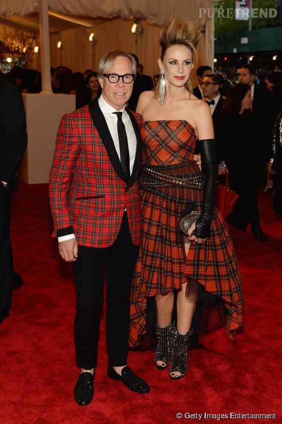 """Tommy et Dee Hilfiger au MET Ball 2013, """"Punk : Chaos to Couture""""."""