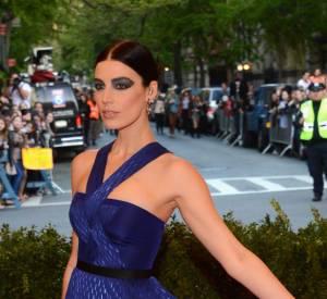 """Jessica Paré porte une robe et un pantalon Jason Wu ainsi que des bijoux Delfina Delettrez au MET Ball 2013, """"Punk : Chaos to Couture""""."""