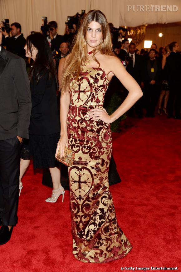 "Bianca Brandolini d'Adda en Dolce & Gabbana au MET Ball 2013, ""Punk : Chaos to Couture""."