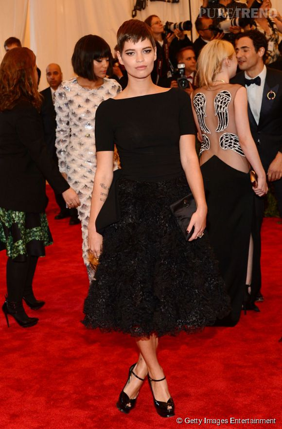 """Pixie Geldof au MET Ball 2013, """"Punk : Chaos to Couture""""."""