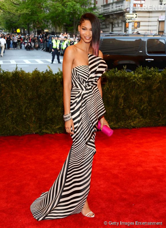 """Chanel Iman au MET Ball 2013, """"Punk : Chaos to Couture""""."""