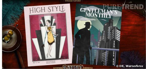 """Warner Bros a créé une application qui vous permet de créer un avatar directement inspiré de l'univers de """"Gatsby Le Magnifique""""."""