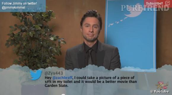 """Zach Braff se fait insulter sur son travail de réalisateur et acteur pour """"Garden State"""". Un film pourtant sacré par les critiques !"""