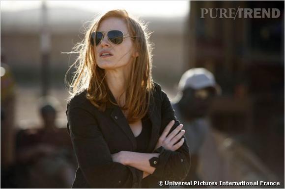 """Jessica Chastain : ses coiffures au cinéma    Changement de style avec """"Zero Dark Thirty"""", la chevelure de l'actrice prend un virage moderne. Lisse et wild, elle va comme un gant à son personnage."""
