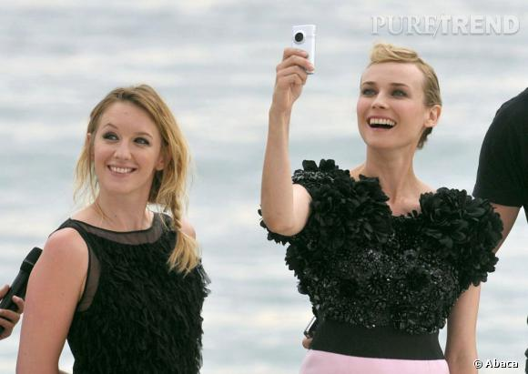 """Diane Kruger et Ludivine Sagnier, venue défendre """"Pieds nus sur les limaces"""" l'imite en 2010."""