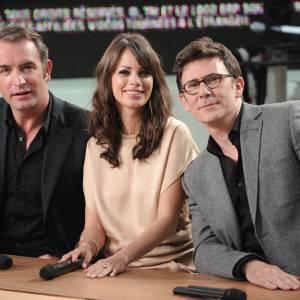 Le trio gagnant de The Artist Jean Dujardin, Berenice Bejo et Michel Hazanavicius en 2011.