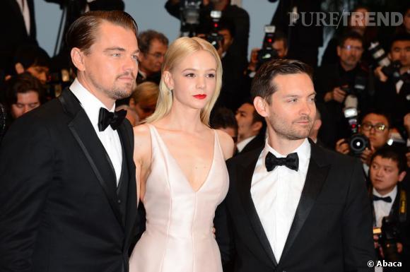 """Leonardo Dicaprio, Carey Mulligan et Tobey Maguire donne le coup d'envoi du Festival de Cannes 2013 lors de la première du film de baz Luhrmann """"Gatsby Le Magnifique""""."""