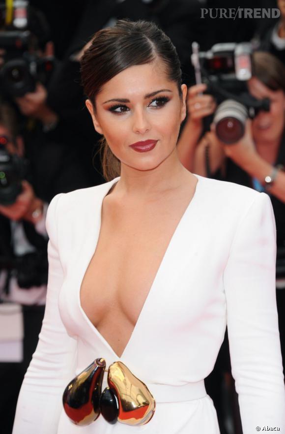 Les plus beaux décolletés de Cannes : Cheryl Cole n'a pas froid aux yeux.