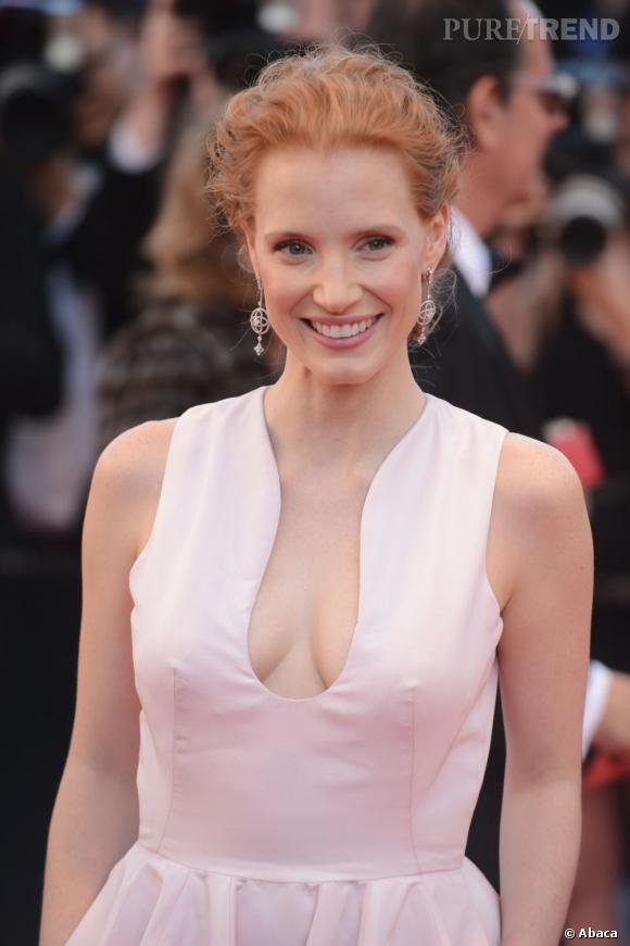 Les plus beaux décolletés de Cannes : Jessica Chastain ose !