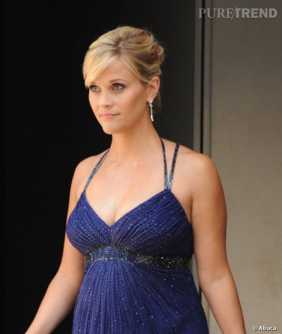 Les plus beaux décolletés de Cannes : Reese Witherspoon, enceinte et sexy.