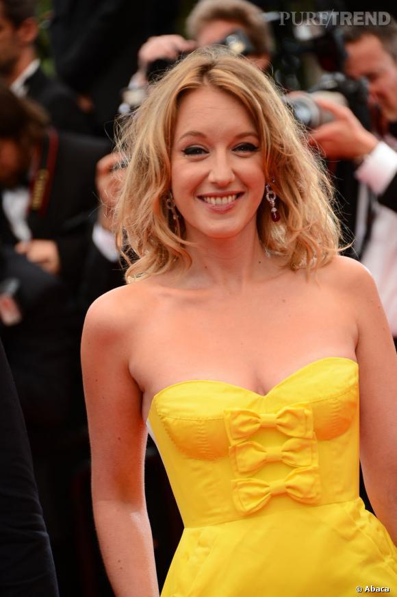 Les plus beaux décolletés de Cannes : Ludivine Sagnier, le bustier vitaminé.