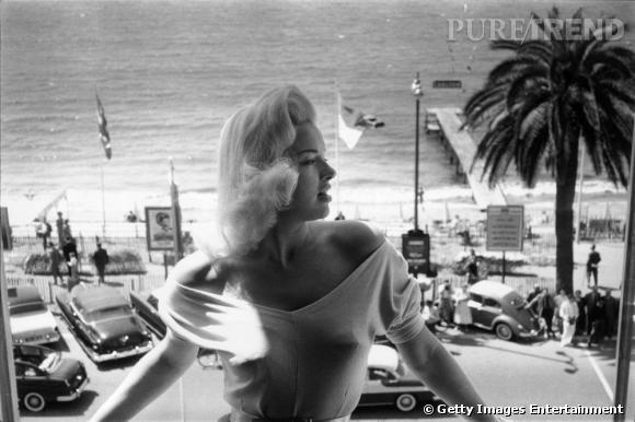 Diana Dors au Festival de Cannes de 1956.