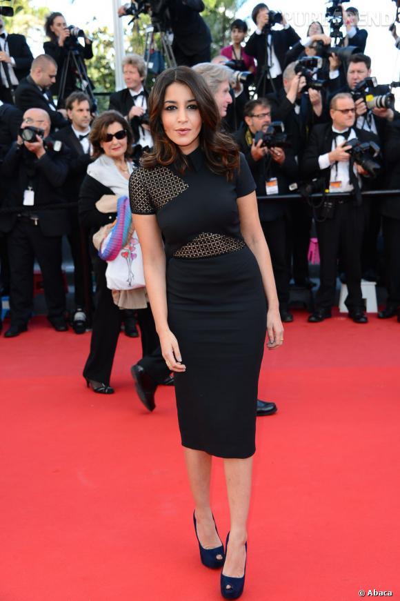 """Leïla Bekhti à la projection du film """"Le Passé"""" lors de la troisième montée des marches du Festival de Cannes 2013."""