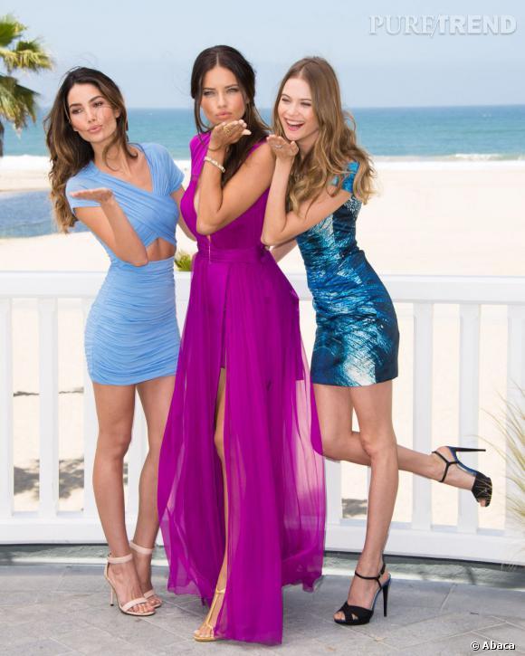 Adriana Lima et deux autres anges Victoria's Secret, Lily Aldridge et Behati Prinslo.