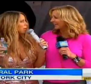 La robe de Mariah Carey craque en direct.