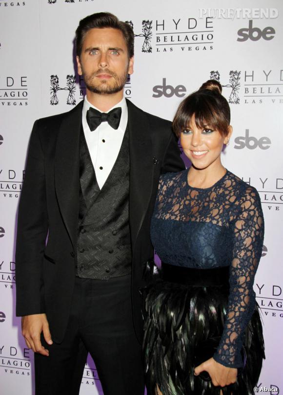 Scott Disick fête ses 30 ans à l'Hyde Bellagio avec sa chérie Kourtney Kardashian.
