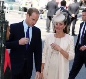 Kate Middleton, tres enceinte pour son avant-derniere sortie officielle
