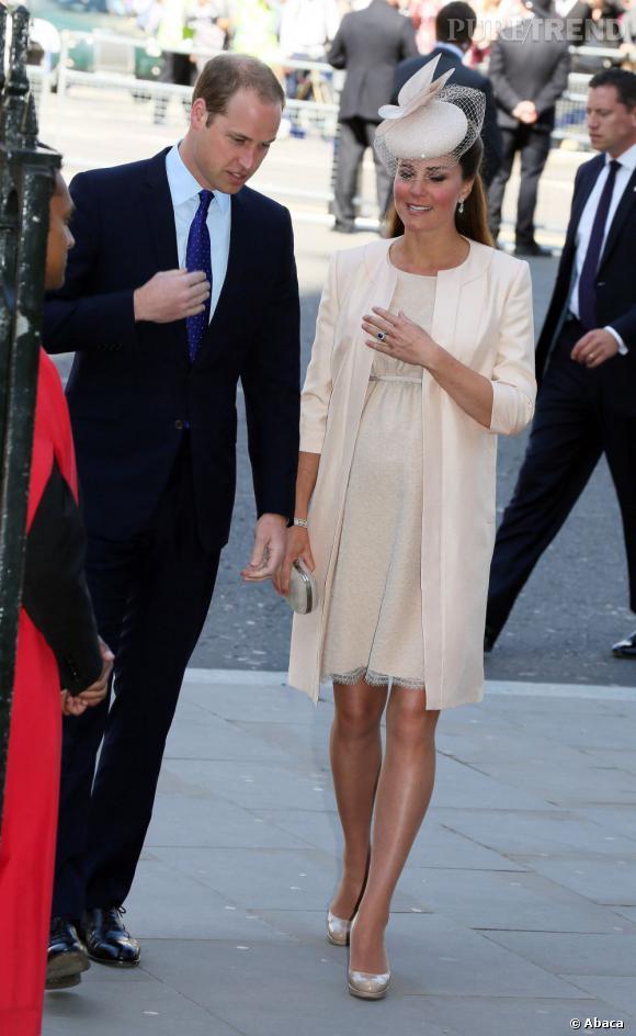 Kate Middleton à l'Abbaye de Westminster pour une cérémonie en hommage au 60ème anniversaire du couronnement de la Reine Elizabeth II.