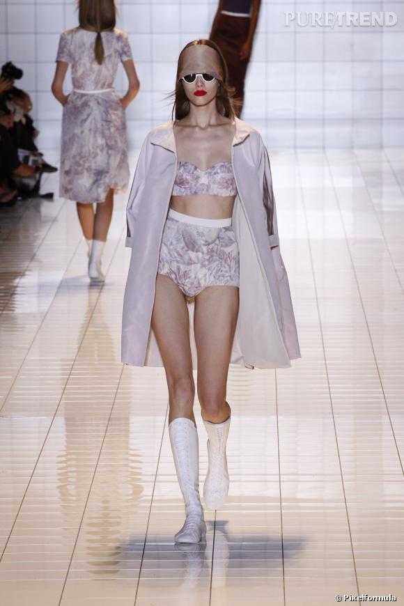La tendance lingerie vue sur les podiums Rochas, défilé Printemps-Eté 2013