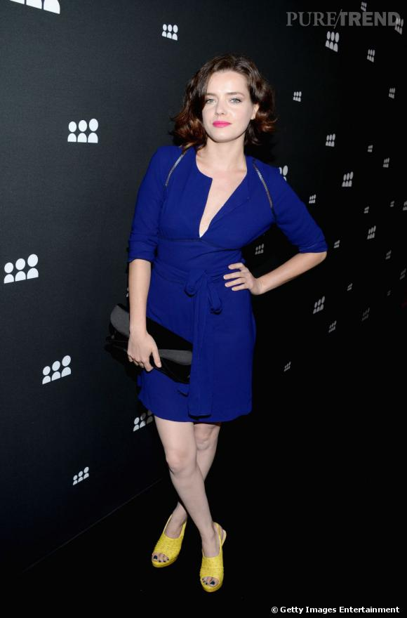 La Française Roxanne Mesquida lors du lancement de la nouvelle version de Myspace à Los Angeles.