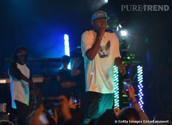 Tyler The Creator monte également sur scène.