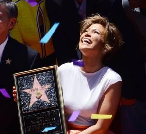 Jennifer Lopez, en pleurs pour son etoile sur le Hollywood Walk of Fame