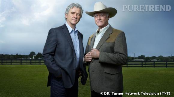"""Bobby et feu J.R pour la saison 14 de """"Dallas""""."""