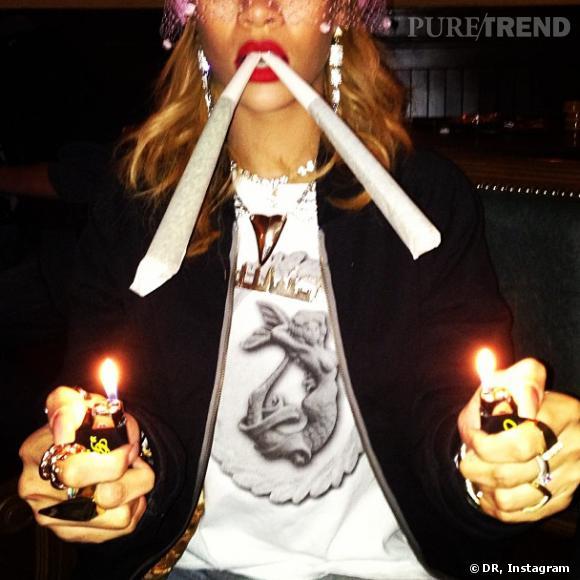 Rihanna à Amsterdam, la photo choc.