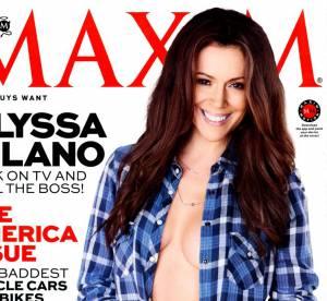 Alyssa Milano : Cover girl topless a 40 ans