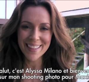 Alyssa Milano tombe le haut pour Maxim... la vidéo des coulisses.