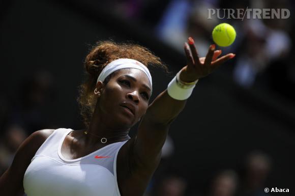 Serena Williams aime faire un petit rappel d'orange sur les courts de Wimbledon.