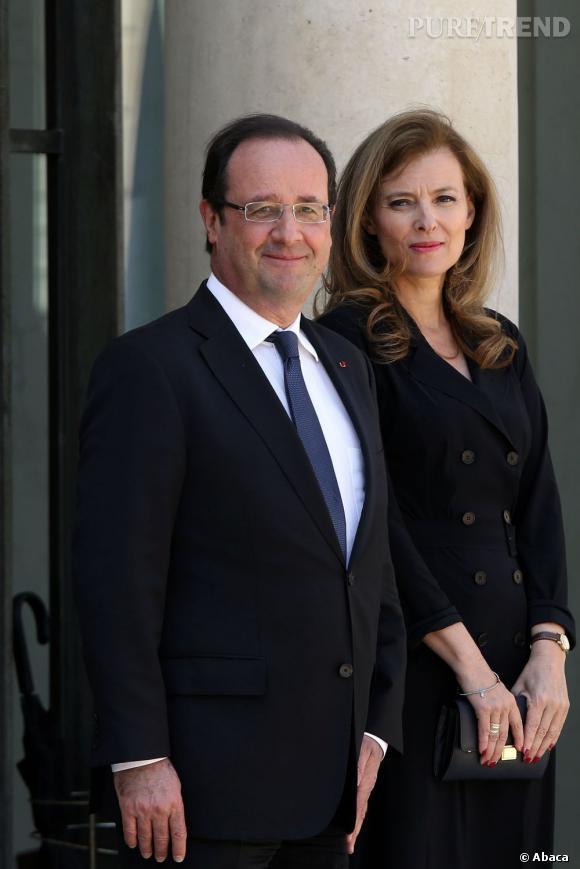 """Valérie Trierweiler raconte comment elle envisage son couple avec François Hollande, chez """"C à Vous""""."""