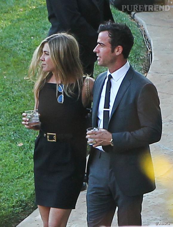 Jennifer Aniston et Justin Theroux au mariage de Jimmy Kimmel.
