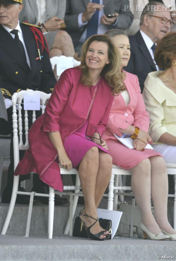 Valérie Trierweiler, le 14 juillet dernier... un look explosif !