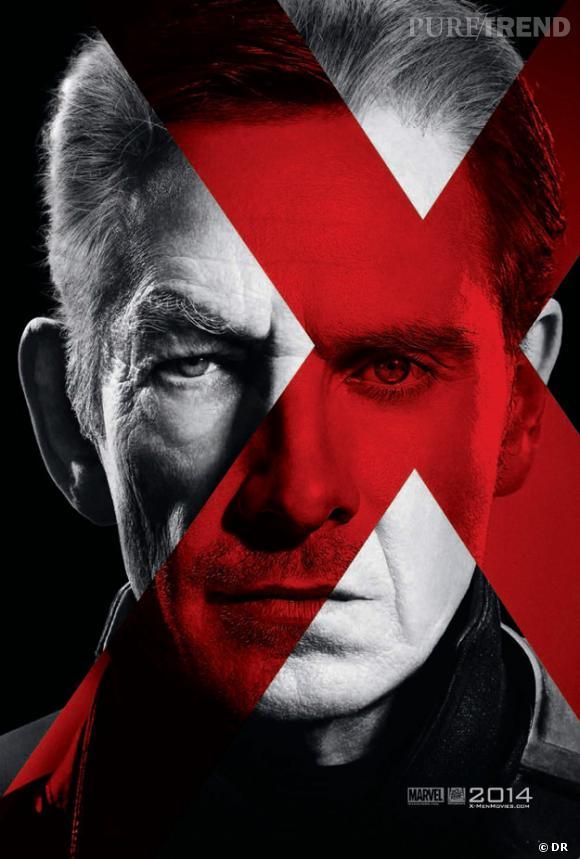 Ian McKellen et Michael Fassbender se confondent dans ce poster de Magneto.