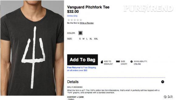 Le t-shirt qui fait scandale chez Urban Outfitters.