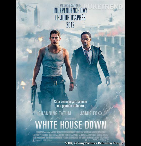 White House Down, l'affiche du film avec Channing Tatum et Jamie Foxx.