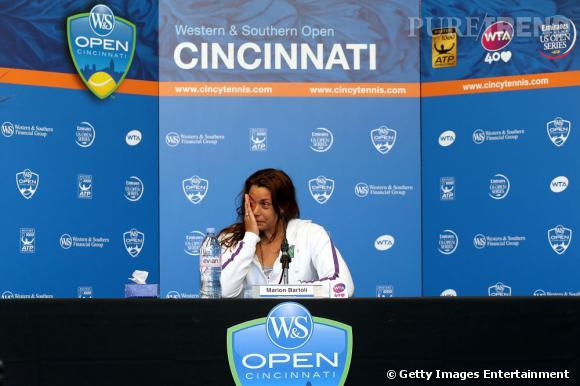 Marion Bartoli a annoncé qu'elle prennait sa retraite lors d'une conférence de presse à Cincinnati où elle disputait le 2ème tour du du tournoi WTA.
