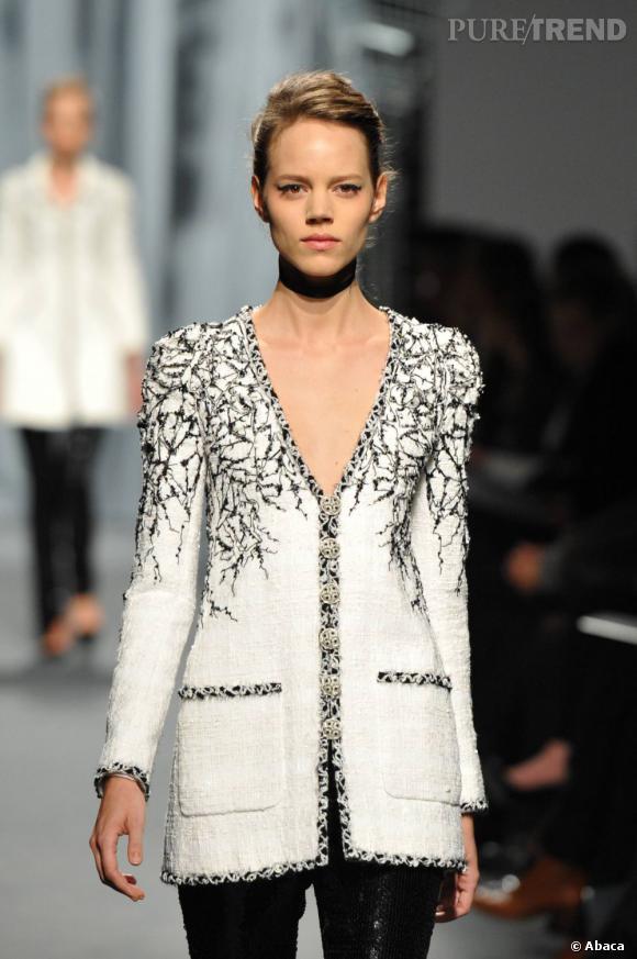 Freja Beha Erichsen au défilé Chanel Haute Couture Printemp-Eté 2011.