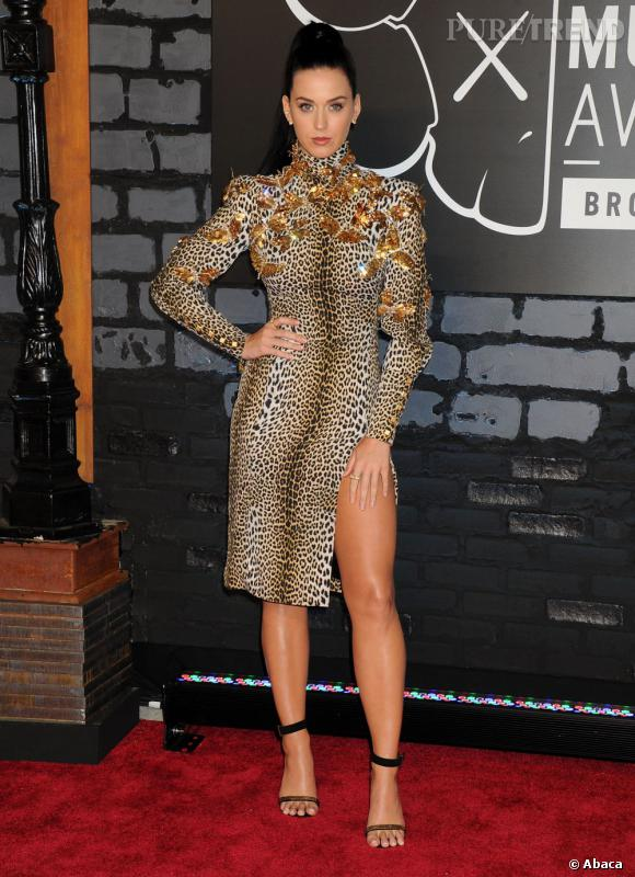 Katy Perry ne se rend-t-elle pas compte que l'imprimé l'épaissit ?