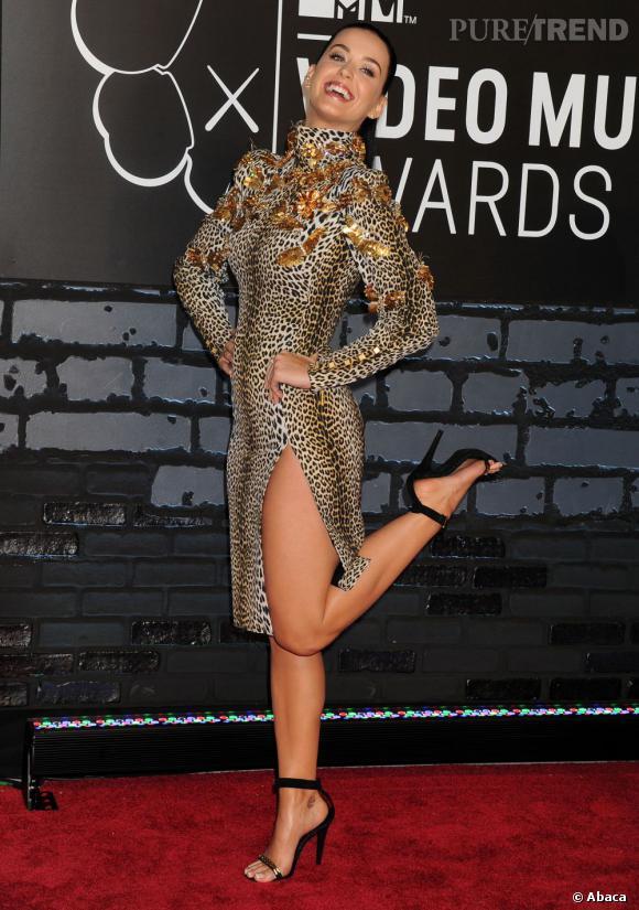 Pour les MTV Video Music Awards, Katy Perry s'offre un look sauvage... et trop bling bling.