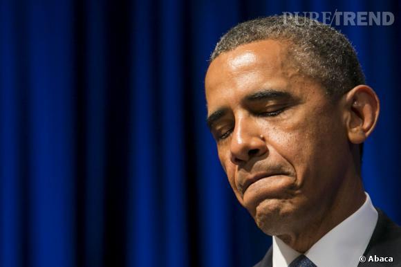 """Barack Obama en larmes après avoir vu le film """"Le Majordome""""."""